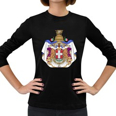 Greater Coat of Arms of Italy, 1870-1890 Women s Long Sleeve Dark T-Shirts