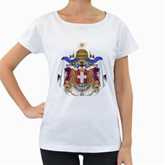 Greater Coat of Arms of Italy, 1870-1890 Women s Loose-Fit T-Shirt (White)