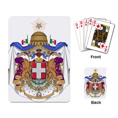 Greater Coat of Arms of Italy, 1870-1890 Playing Card