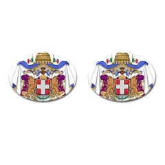 Greater Coat of Arms of Italy, 1870-1890 Cufflinks (Oval)