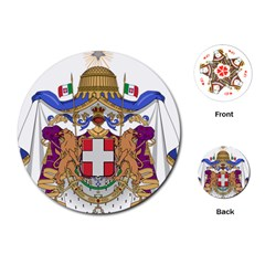 Greater Coat of Arms of Italy, 1870-1890 Playing Cards (Round)