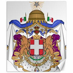 Greater Coat of Arms of Italy, 1870-1890 Canvas 8  x 10