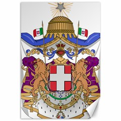 Greater Coat of Arms of Italy, 1870-1890 Canvas 12  x 18