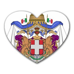 Greater Coat of Arms of Italy, 1870-1890 Heart Mousepads