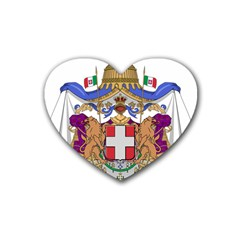 Greater Coat of Arms of Italy, 1870-1890 Rubber Coaster (Heart)