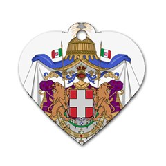 Greater Coat of Arms of Italy, 1870-1890 Dog Tag Heart (Two Sides)