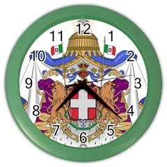 Greater Coat of Arms of Italy, 1870-1890 Color Wall Clocks