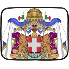 Greater Coat of Arms of Italy, 1870-1890 Double Sided Fleece Blanket (Mini)