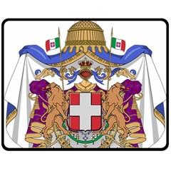 Greater Coat of Arms of Italy, 1870-1890 Fleece Blanket (Medium)