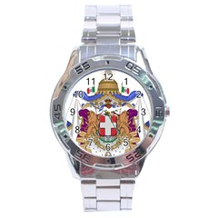 Greater Coat of Arms of Italy, 1870-1890 Stainless Steel Analogue Watch