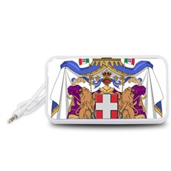 Greater Coat of Arms of Italy, 1870-1890 Portable Speaker (White)