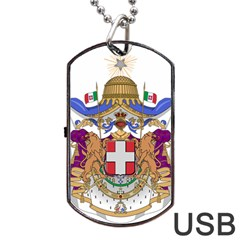 Greater Coat of Arms of Italy, 1870-1890 Dog Tag USB Flash (One Side)