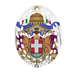 Greater Coat of Arms of Italy, 1870-1890 Oval Filigree Ornament (Two Sides)