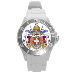 Greater Coat of Arms of Italy, 1870-1890 Round Plastic Sport Watch (L)