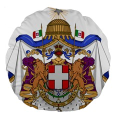 Greater Coat of Arms of Italy, 1870-1890 Large 18  Premium Round Cushions