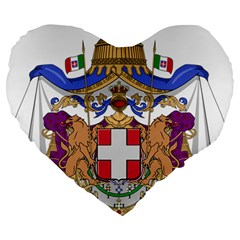 Greater Coat of Arms of Italy, 1870-1890 Large 19  Premium Heart Shape Cushions