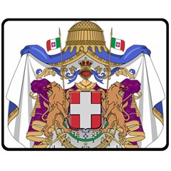 Greater Coat of Arms of Italy, 1870-1890 Double Sided Fleece Blanket (Medium)