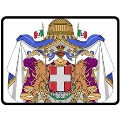 Greater Coat of Arms of Italy, 1870-1890 Double Sided Fleece Blanket (Large)