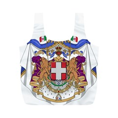 Greater Coat of Arms of Italy, 1870-1890 Full Print Recycle Bags (M)