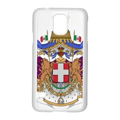 Greater Coat of Arms of Italy, 1870-1890 Samsung Galaxy S5 Case (White)
