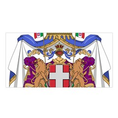 Greater Coat of Arms of Italy, 1870-1890 Satin Shawl