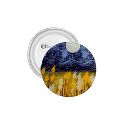 Blue And Gold Landscape With Moon 1 75  Buttons