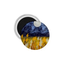 Blue and Gold Landscape with Moon 1.75  Magnets