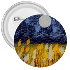 Blue and Gold Landscape with Moon 3  Buttons