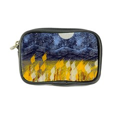 Blue and Gold Landscape with Moon Coin Purse