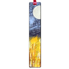 Blue and Gold Landscape with Moon Large Book Marks