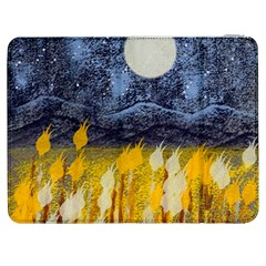 Blue and Gold Landscape with Moon Samsung Galaxy Tab 7  P1000 Flip Case