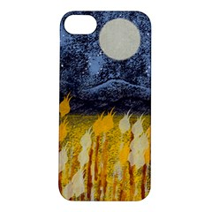 Blue And Gold Landscape With Moon Apple Iphone 5s/ Se Hardshell Case