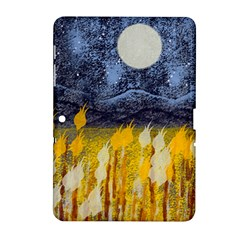 Blue and Gold Landscape with Moon Samsung Galaxy Tab 2 (10.1 ) P5100 Hardshell Case