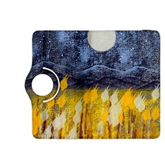 Blue and Gold Landscape with Moon Kindle Fire HDX 8.9  Flip 360 Case