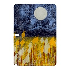 Blue and Gold Landscape with Moon Samsung Galaxy Tab Pro 12.2 Hardshell Case