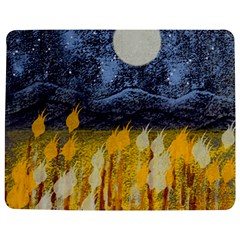 Blue and Gold Landscape with Moon Jigsaw Puzzle Photo Stand (Rectangular)