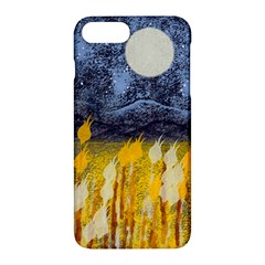 Blue And Gold Landscape With Moon Apple Iphone 7 Plus Hardshell Case