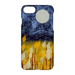 Blue And Gold Landscape With Moon Apple Iphone 7 Hardshell Case