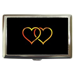 Heart Gold Black Background Love Cigarette Money Cases