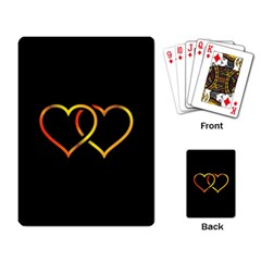 Heart Gold Black Background Love Playing Card