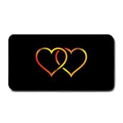 Heart Gold Black Background Love Medium Bar Mats