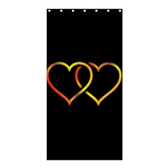 Heart Gold Black Background Love Shower Curtain 36  X 72  (stall)