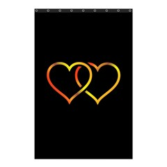Heart Gold Black Background Love Shower Curtain 48  X 72  (small)