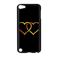 Heart Gold Black Background Love Apple Ipod Touch 5 Case (black)