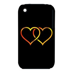 Heart Gold Black Background Love Iphone 3s/3gs