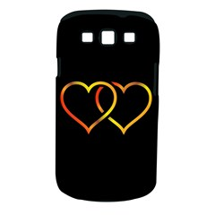 Heart Gold Black Background Love Samsung Galaxy S Iii Classic Hardshell Case (pc+silicone)