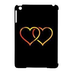 Heart Gold Black Background Love Apple Ipad Mini Hardshell Case (compatible With Smart Cover)