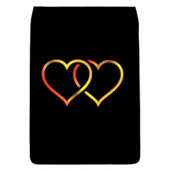 Heart Gold Black Background Love Flap Covers (S)