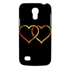Heart Gold Black Background Love Galaxy S4 Mini