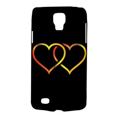 Heart Gold Black Background Love Galaxy S4 Active